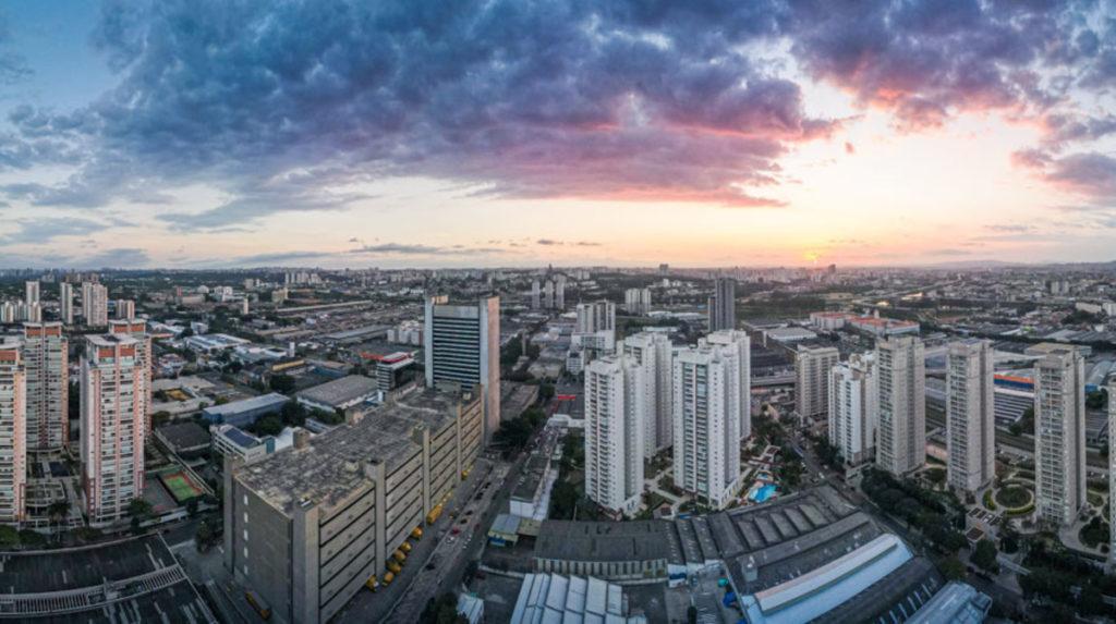imagem vila leopoldina por do sol com drone c7c10700c013 feef368975b3