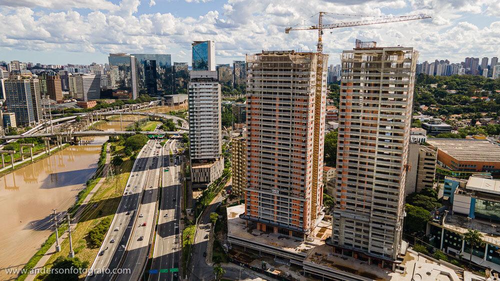 Prédio Construção Civil - Foto com Drone