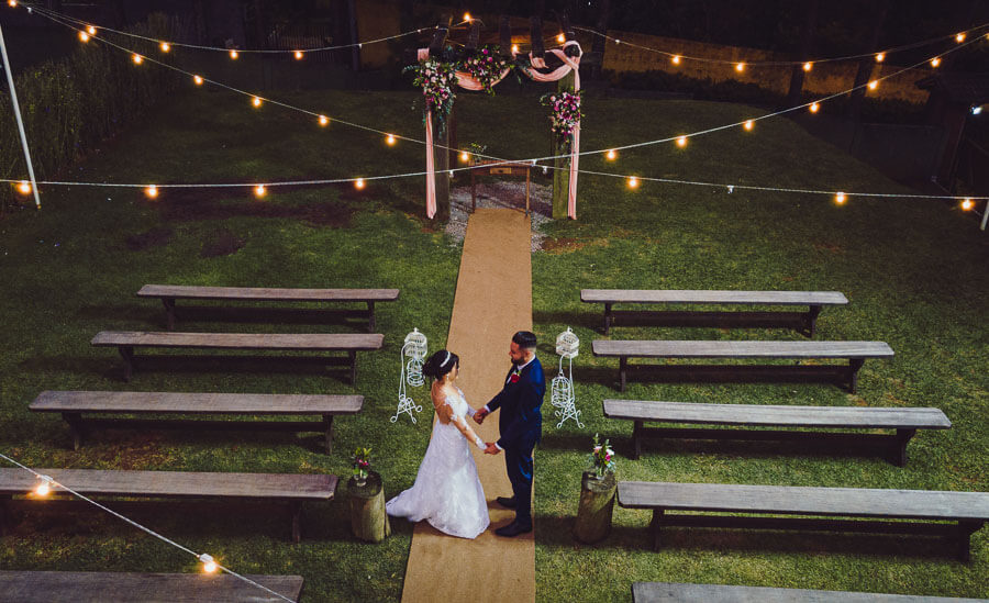 Foto Casamento com Drone